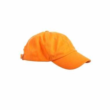 Gekleurde oranje baseballcapscarnavalskleding