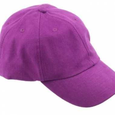 Gekleurde paarse baseballcaps carnavalskleding