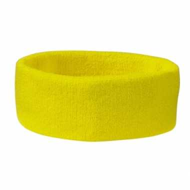 Gele hoofdbandjescarnavalskleding