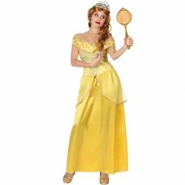 Gele prinsessen verkleed jurk voor damescarnavalskleding