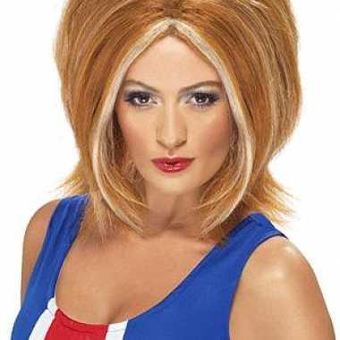 Ginger power pruik rood haar carnavalskleding