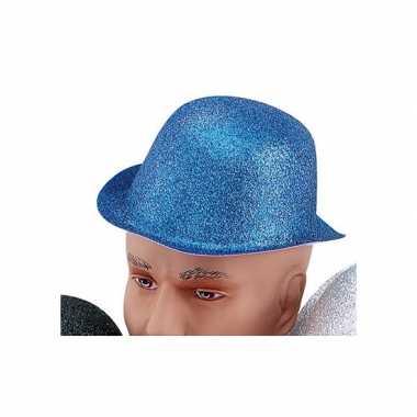 Glitter bolhoed blauwcarnavalskleding