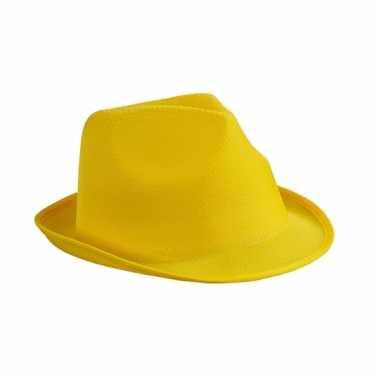 Goedkoop geel feesthoedjecarnavalskleding
