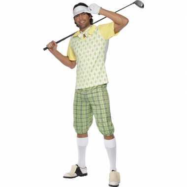 Golfer pak voor heren carnavalskleding