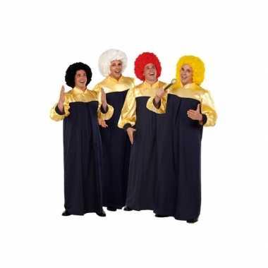 Gospel zanger kostuums carnavalskleding