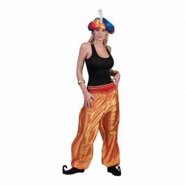 Gouden arabische broek voor damescarnavalskleding