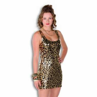 Gouden jurkje tijgerprintcarnavalskleding