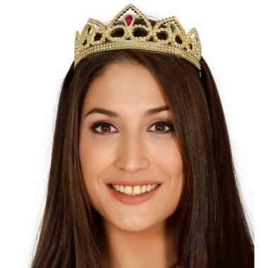 Gouden kroontje voor prinsessencarnavalskleding