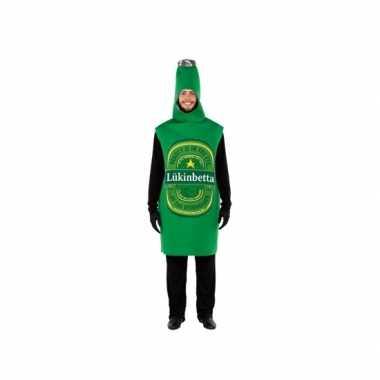 Groene bierfles verkleedkostuum voor volwassenencarnavalskleding