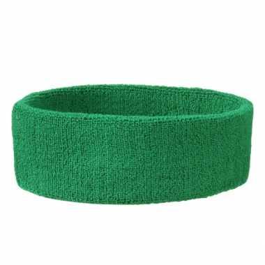 Groene hoofdbandjescarnavalskleding