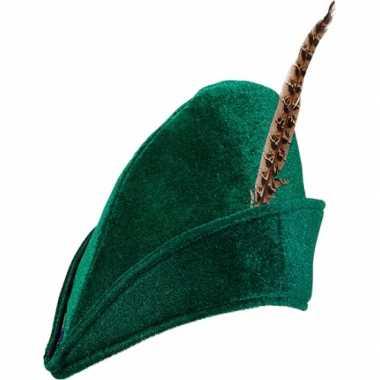 Groene robin hood hoed carnavalskleding