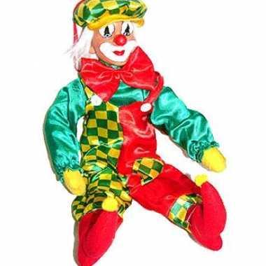 Grote decoratieve clown 50 cmcarnavalskleding