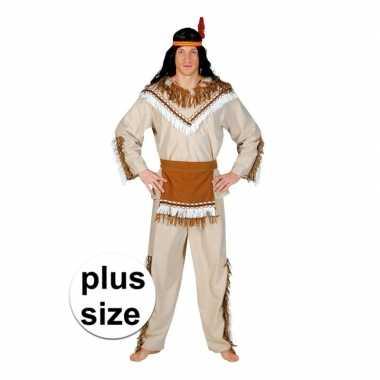 Grote maat indiaan adahy carnavalskostuum voor herencarnavalskleding
