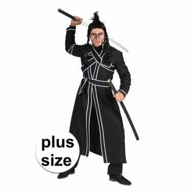 Grote maat zwart japanse vechtsport verkleed kostuum voor herencarnav
