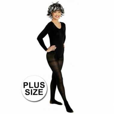 Grote maten carnavalskleding zwarte panty voor dames