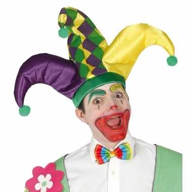 Harlekijn hoed voor volwassenencarnavalskleding