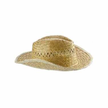 Heren strohoed cowboycarnavalskleding