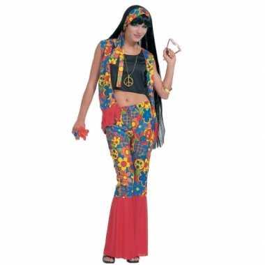 Hippie kleding met peace tekens carnavalskleding