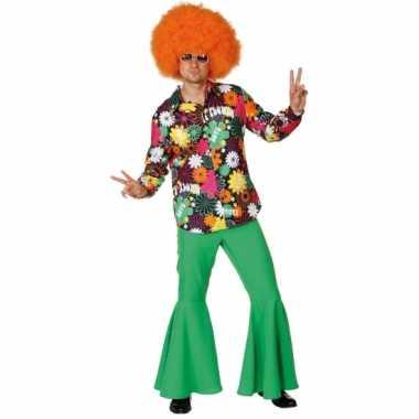 Hippie overhemd voor herencarnavalskleding