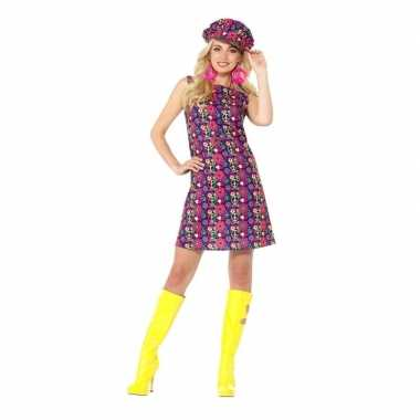 Hippie peace flower power jurkje voor damescarnavalskleding