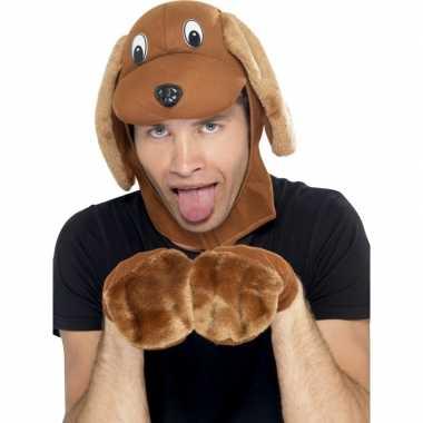 Hond verkleed setje voor volwassenencarnavalskleding