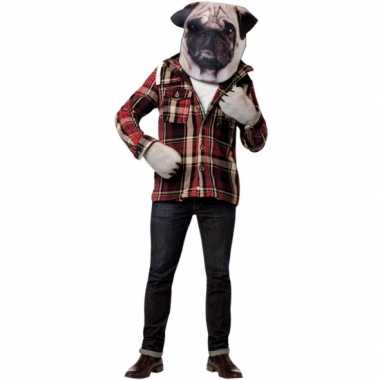 Honden verkleedset met masker en handschoenencarnavalskleding