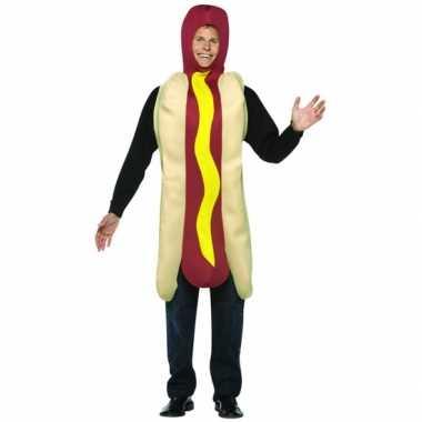 Hot dog met saus kostuumcarnavalskleding
