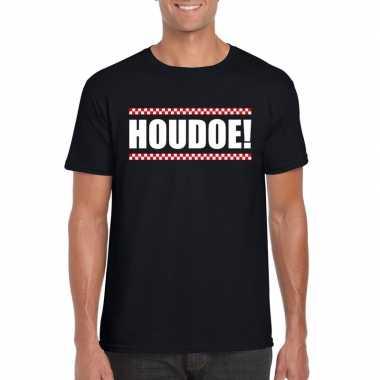 Houdoe heren t-shirt zwartcarnavalskleding