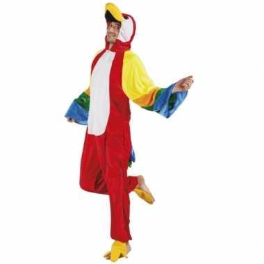 Huispak papegaai voor heren carnavalskleding