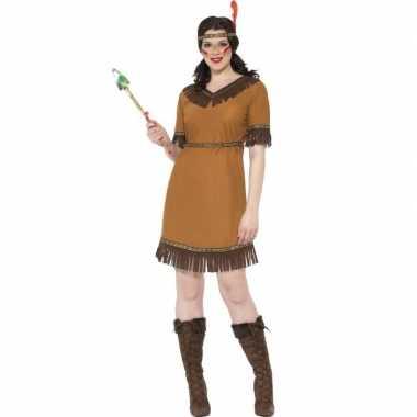 Indiaan kostuum jurkje voor damescarnavalskleding