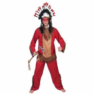 Indiaan lootah carnavalskostuum voor herencarnavalskleding