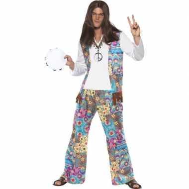 Jaren 60 hippie kostuum groovy voor heren carnavalskleding