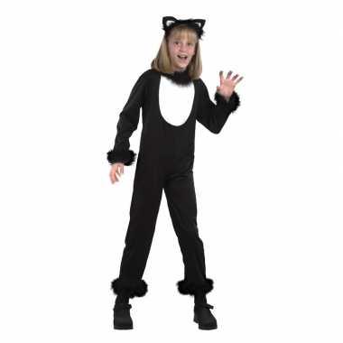 Katten/poezen onesie verkleedkleding voor kidscarnavalskleding