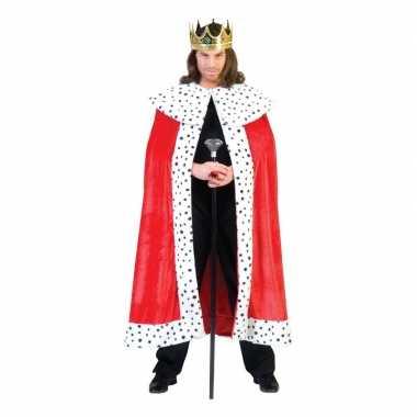 Konings cape voor volwassenencarnavalskleding