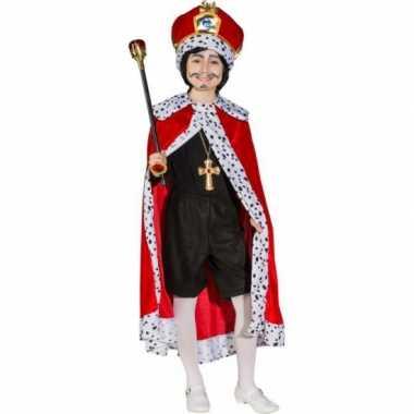 Koningsmantel rood voor kinderencarnavalskleding