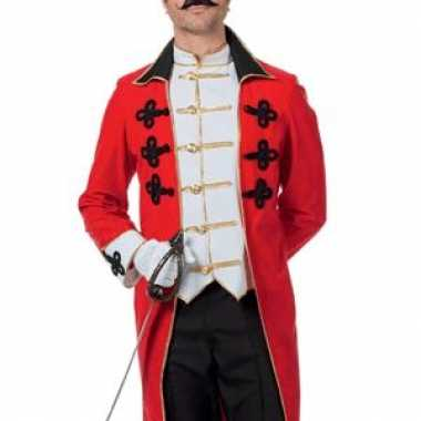 Lange garde soldaat jas roodcarnavalskleding