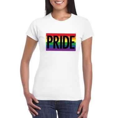 Lesbo shirt pride regenboog vlag dames witcarnavalskleding