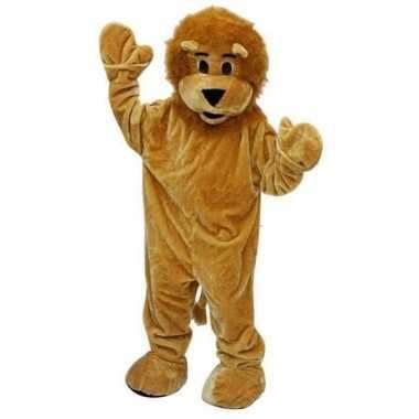 Lichtbruin leeuwenpak deluxe carnavalskleding