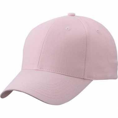 Lichtroze baseball cap van katoencarnavalskleding