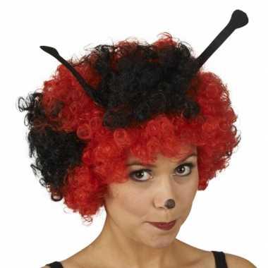 Lieveheerstbeestjes dames pruik carnavalskleding