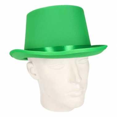 Luxe groene hoge feesthoedcarnavalskleding
