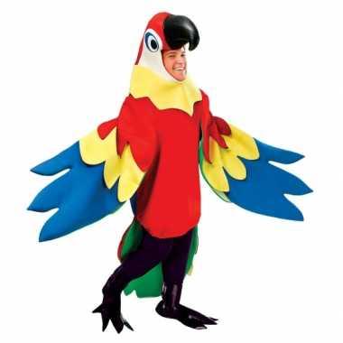 Luxe papepaaien pak volwassenencarnavalskleding