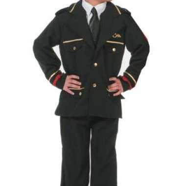 Luxe piloten jas voor kinderencarnavalskleding