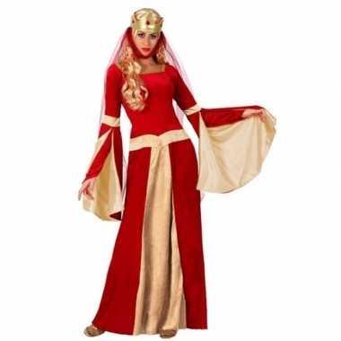 Middeleeuwse koningin verkleed jurk voor damescarnavalskleding