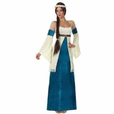 Middeleeuwse prinses verkleed jurk voor damescarnavalskleding