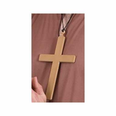 Monniken kruis ketting 22 cmcarnavalskleding
