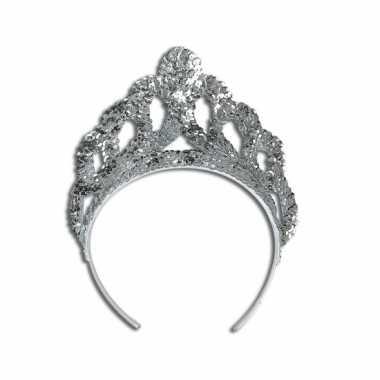 Mooie zilveren prinsessen tiaracarnavalskleding