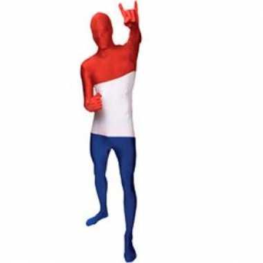 Morphsuit kostuum nederlandse vlagcarnavalskleding