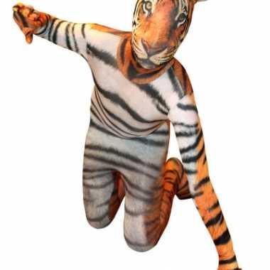Morphsuit met tijger printcarnavalskleding