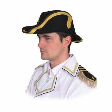 Napoleonhoed zwart voor volwassenencarnavalskleding